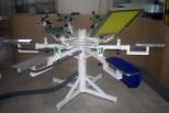 Ruční sítotiskový karusel K6 s přisáváním